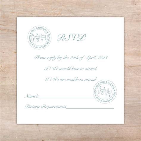 Wedding Rsvp Congratulations destination wedding rsvp postcard flamingo