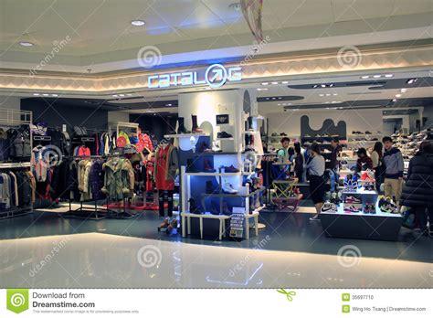 city sports shoe store catalog shop in hong kong editorial image image 35697710