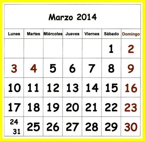 Calendario Marzo 2014 Estreno De Mi Almanaque 2014 Oggisioggino S