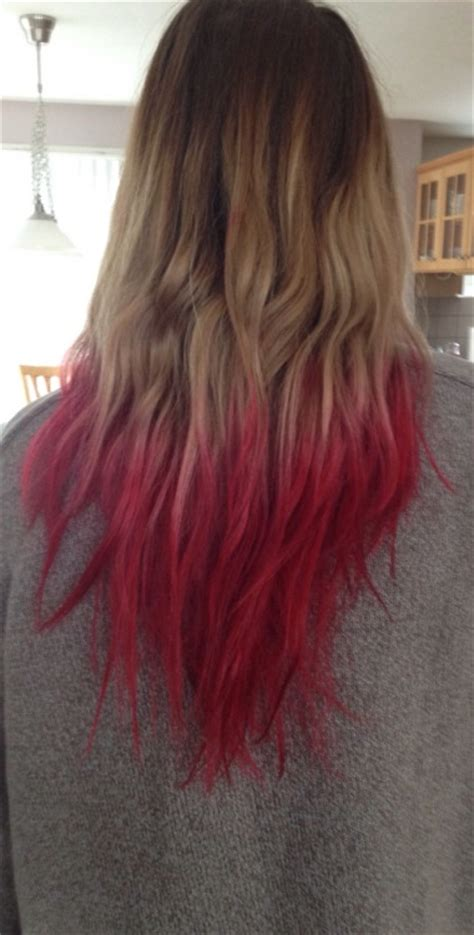 how to dye tips of hair with red kool aid for black hair dip dyed vire red hair colors ideas