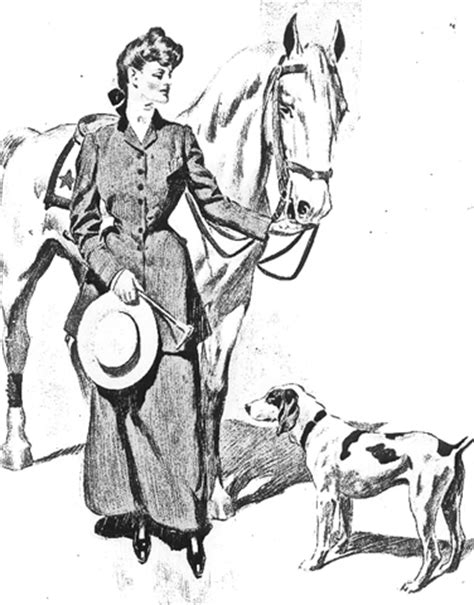 coloring pages of horses and dogs free clip from vintage crafts 187 archive