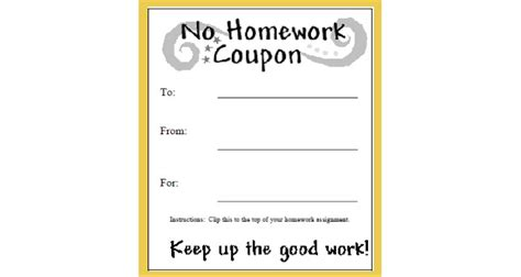 free homework pass template homework pass printable festival collections