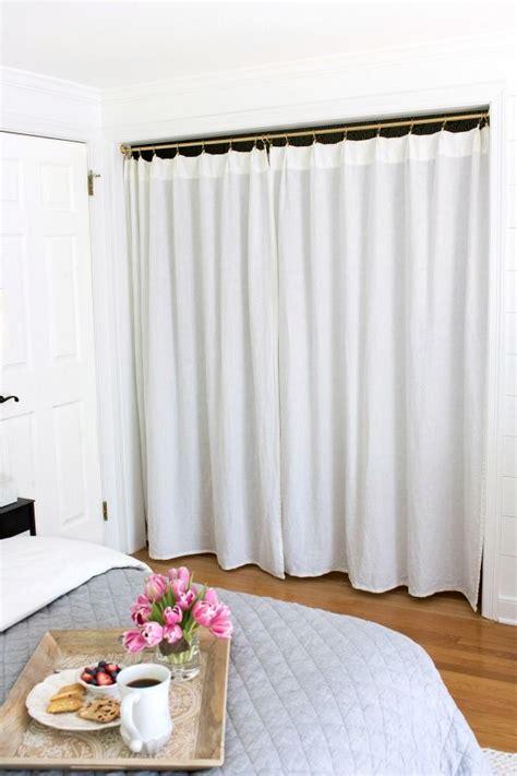 bedroom closet curtains replacing bi fold closet doors with curtains our closet