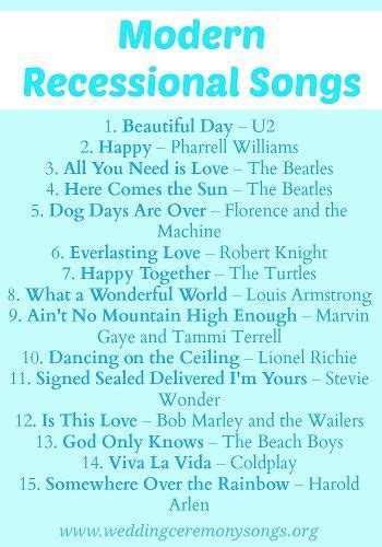 Recessional Songs   Wedding Recessional Songs   Wedding