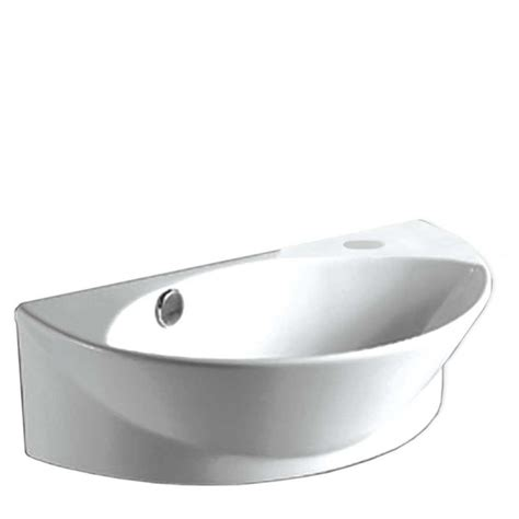 Home Depot Bathroom Sink by Whitehaus Collection Wall Mounted Bathroom Sink In White Whkn1131 Wh The Home Depot