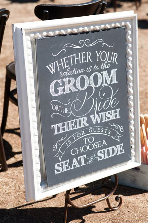 choose a seat not a side wedding sign jeff and allison had a lovely turquoise and wedding