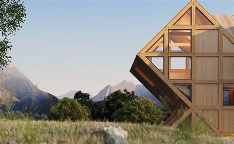 geometric house plans gorgeous valley house is a geometric timber cabin inspired by the dolomite mountains
