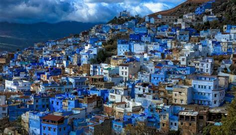 morocco city blue town of chefchaouen morocco this is africa lifestyle