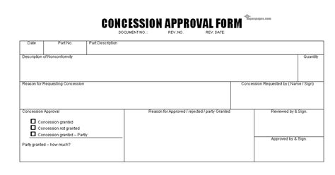 Concession Card Template by Fancy Approval Form Template Gallery Exle Resume