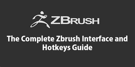 zbrush interface tutorial pdf the complete zbrush interface and hotkeys guide by vfxmill