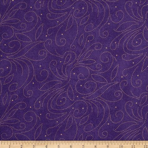 Wide Back Quilt Fabric by 110 Quot Wide Quilt Backing Scroll Purple Discount Designer Fabric Fabric