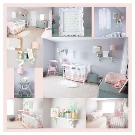 pink grey white baby girls room babies room pinterest pink mint and gray baby girl nursery project nursery