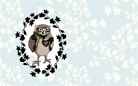 owl wallpaper for macbook 1680x1050 owl heart desktop pc and mac wallpaper