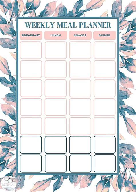 blank menu planner template with printable menu template 49067 free