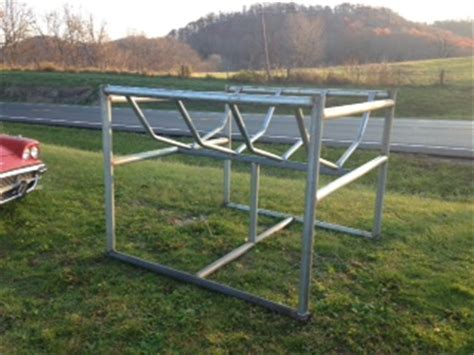 cradle round bale cattle hay feeders