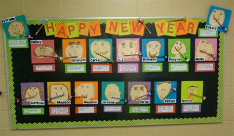 new year teaching ideas happy new year bulletin board display myclassroomideas
