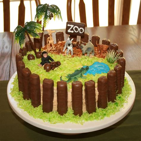 Zoo Themed Birthday Cake Ideas | shower of roses a zoo cake