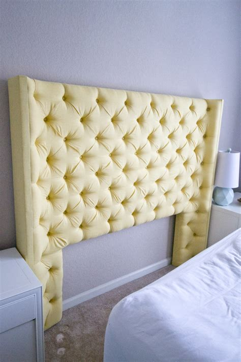 yellow headboard sarah m dorsey designs yellow tufted headboard with arms