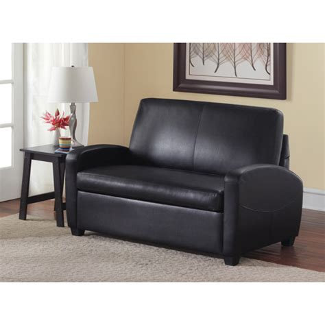 28 mainstays sofa sleeper brown faux leather