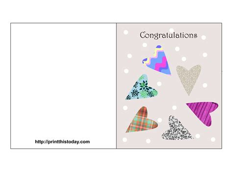 Free Printable Engagement Greeting Cards | free printable wedding congratulations cards