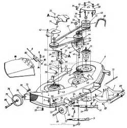 mtd 14as820h352 1997 parts diagram for spindle deck brake and chute assembly