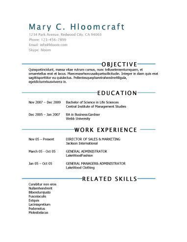 lots of free templates for creating a fun resume to do