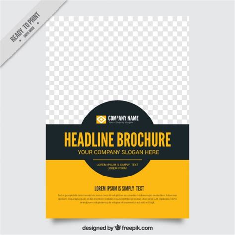 simple flyer template simple brochure template vector free