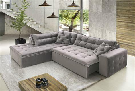 dl couch sof 225 vaintev canto em l veludo marrom 3 lugares sala de estar