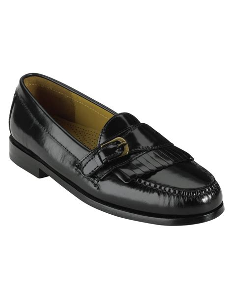 cole haan mens loafers cole haan pinch buckle loafers in black for lyst