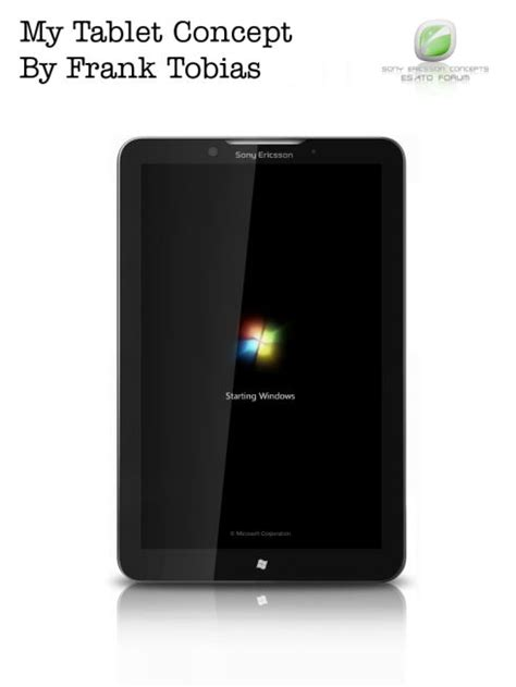 Tablet Sony Ericsson sony ericsson tablet with windows 7 on board needs a name concept phones
