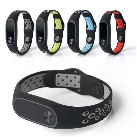 Miband 2 Silicon Bracelet Miband 2 Xiaomi bakeey replacement color silicone smart