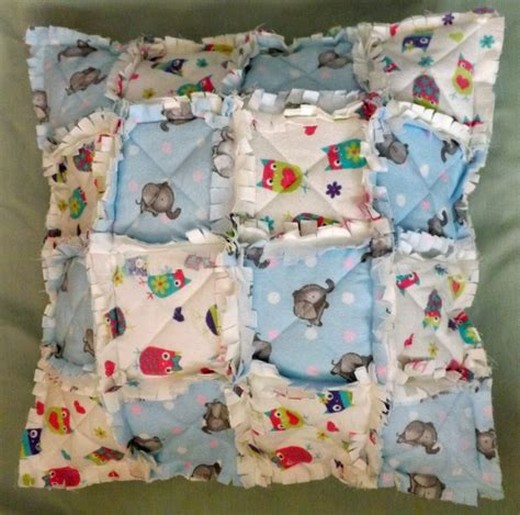 Rag Quilt Pillows by Rag Quilt Pillow 183 A Patchwork Cushion 183 Needlework On Cut