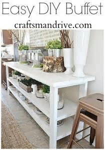 diy buffet table craftsman drive