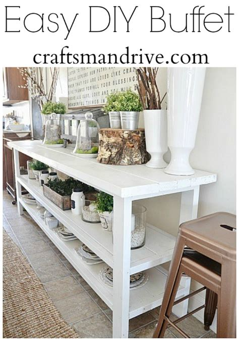 Diy Dining Room Server Diy Buffet Table Craftsman Drive