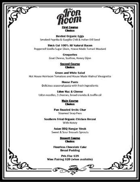 room 39 menu whiskey tasting picture of the iron room at atlantic city bottle company atlantic city