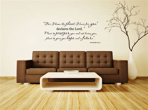 wall stickers bible verses jeremiah 29 11 bible verse vinyl wall decal for i the