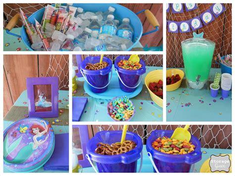 Ariel Table Decorations by Storage Grace Mermaid 4th Birthday