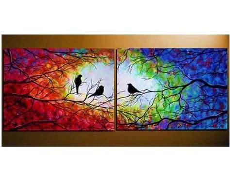 los pjaros el arte m 225 s de 20 ideas fant 225 sticas sobre tripticos cuadros en pinturas grandes en lona