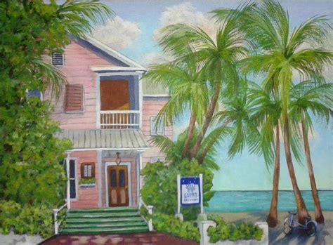 louies backyard acrylic paintings houses