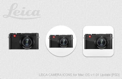 leica camera icons for mac os v1.01 update [psd] by ezboi