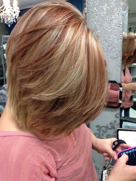 lowlights for blondes red blonde with red lowlights google search chop chop