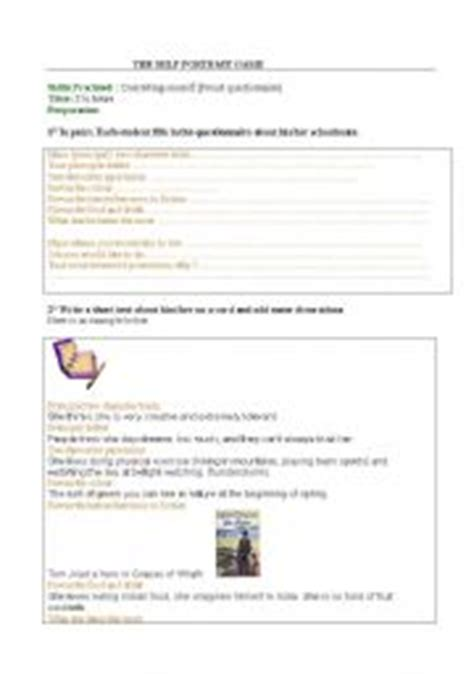 printable proust questionnaire english teaching worksheets guessing games