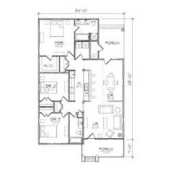 Floor Plan For Bungalow House by Carolinian Iii Bungalow Floor Plan Tightlines Designs
