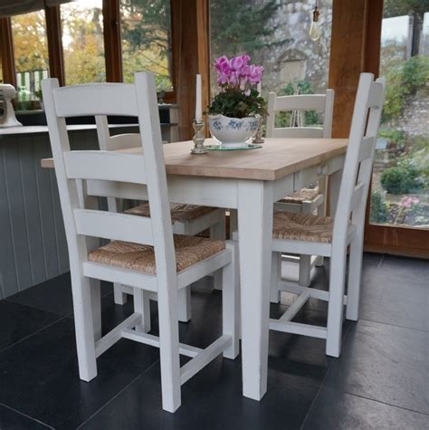 painted shaker farmhouse table and chairs country