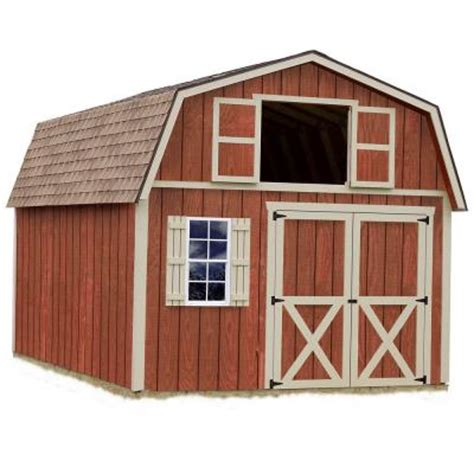 diy shed kit home depot best barns millcreek 12 ft x 20 ft wood storage shed kit