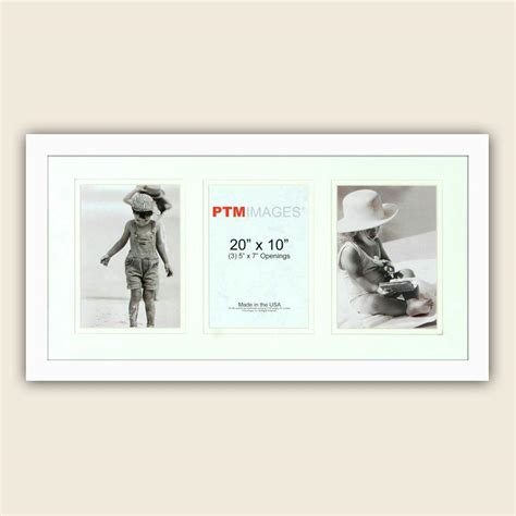 Display To Hold Multiply Matted Pieces - ptm images 3 opening vertical 5 in x 7 in white matted