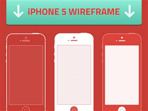 free ios iphone 5 wireframes template vector free psd