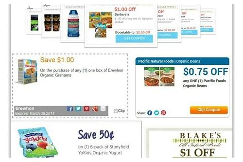 coupons for organic food products