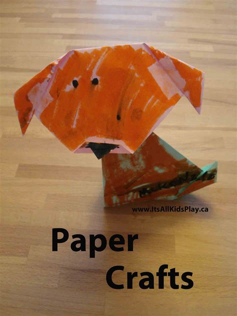 Childrens Paper Crafts - paper crafts for it s all kid s play
