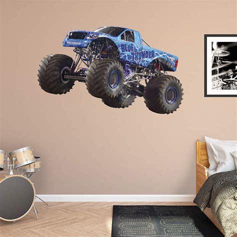 monster truck bedroom decor blue thunder wall decal shop fathead 174 for monster trucks